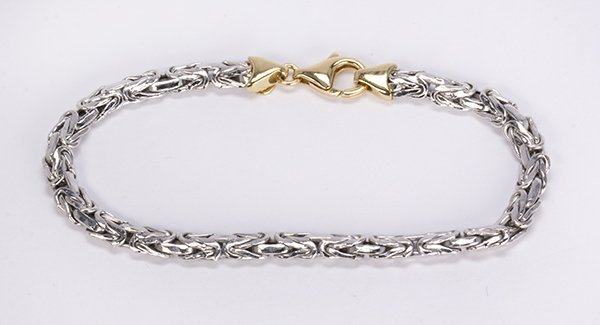 Platinum and 18k yellow gold bracelet