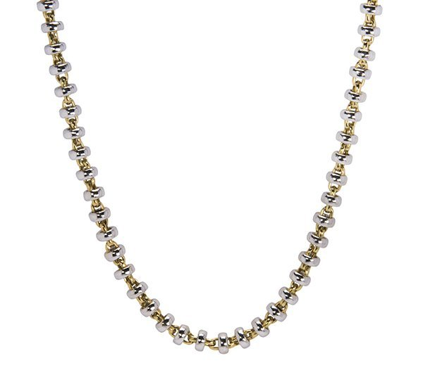 Platinum and 18k yellow gold necklace
