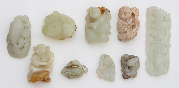 Group of Chinese Jade/Hardstone Toggles