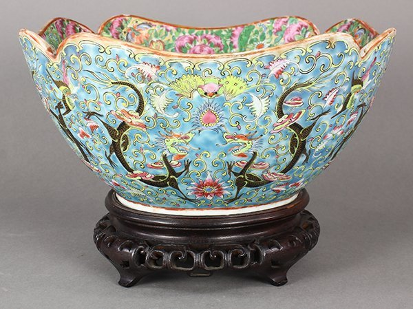 Chinese Export Rose Canton Bowl