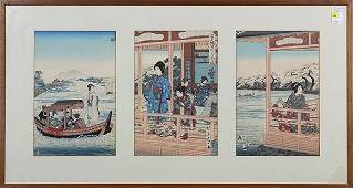 Japanese Woodblock Prints Yosai Nobukazu Meiji