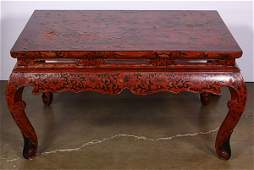 Chinese Lacquered Low Table