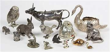 Continental sterling silver and .800 silver animals