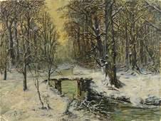 Painting Winter Scene