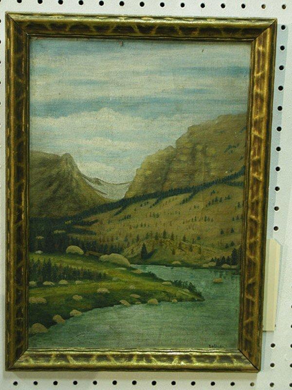5: Oil/board, American 20th century