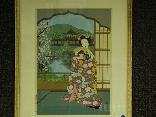 6: Wood block print, Japanese 20th century