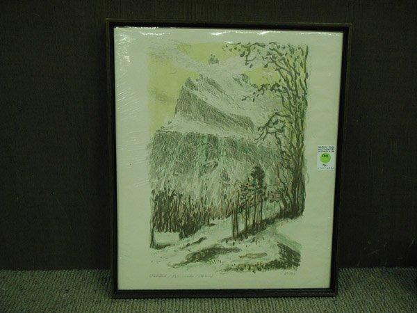 8: Lithograph, European Swiss 20th century