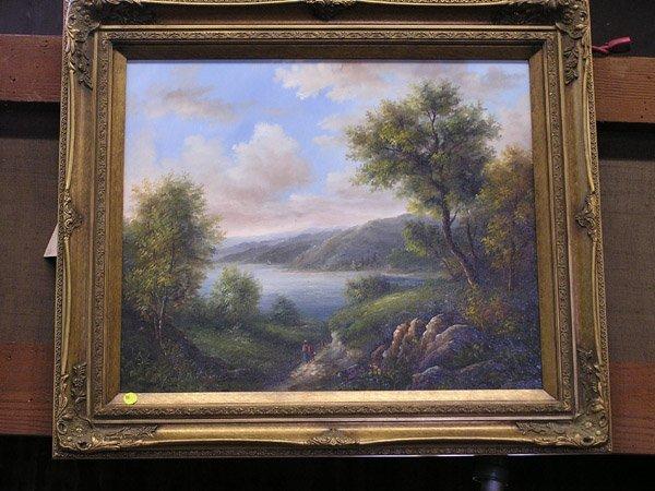 10: Framed oil on canvas