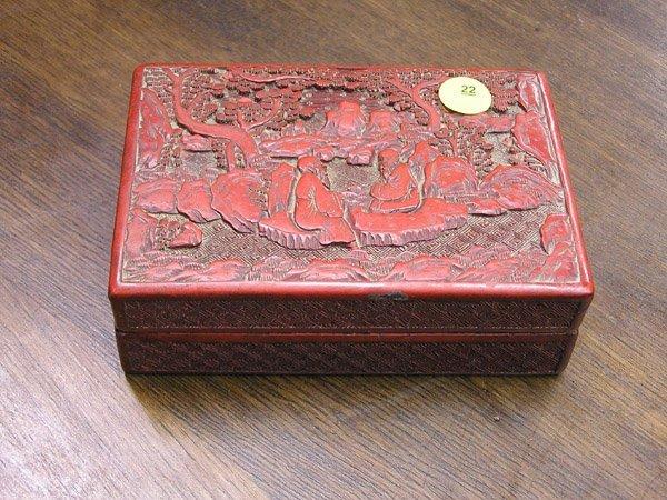 22: Cinnabar Lacquer Box