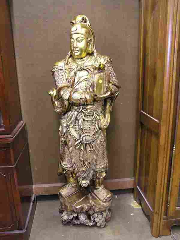 124: Pair of Carved Guardian Kings