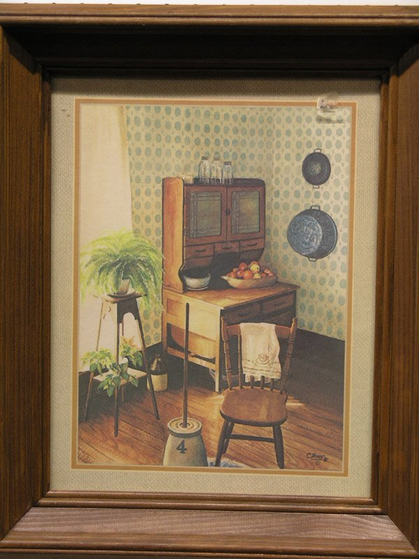 599: Print, after C. Wray, kitchen nook