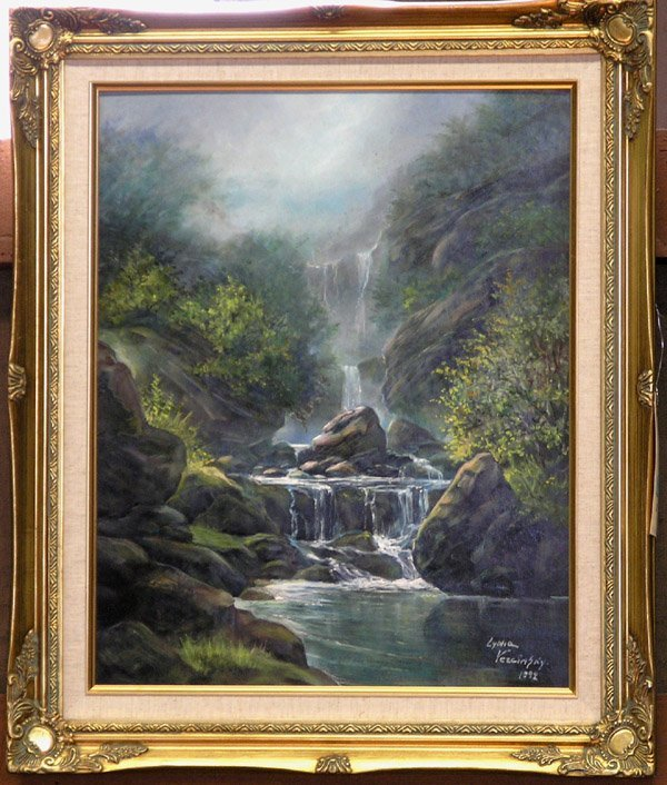 8: Oil, Waterfall, Lydia Vercinsky