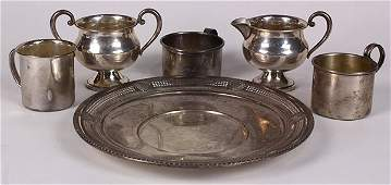 (lot of 6) American sterling silver hollowware group