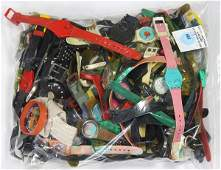 Collection of numerous Swatch watch parts