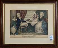 Print, Nathaniel Currier, Washington Family