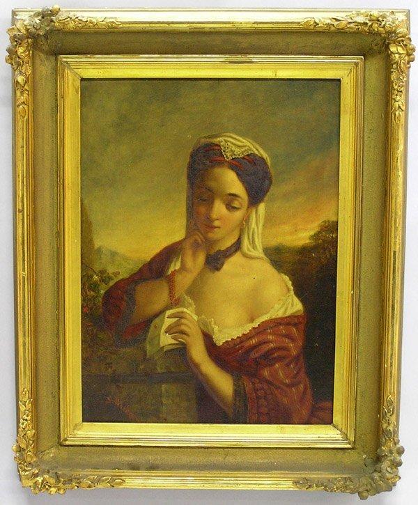 2001: Oil, S. Walker, European, portrait