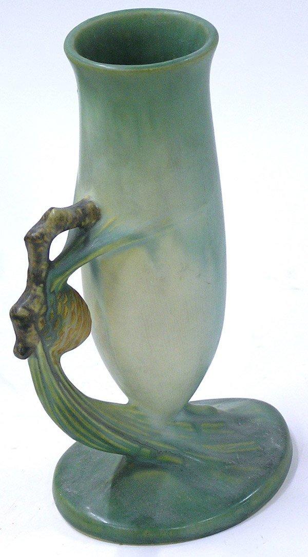 2014: Roseville green pinecone vase