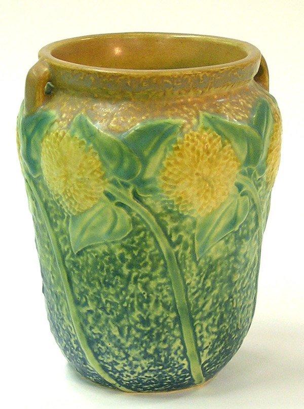 2018: Roseville sunflower vase