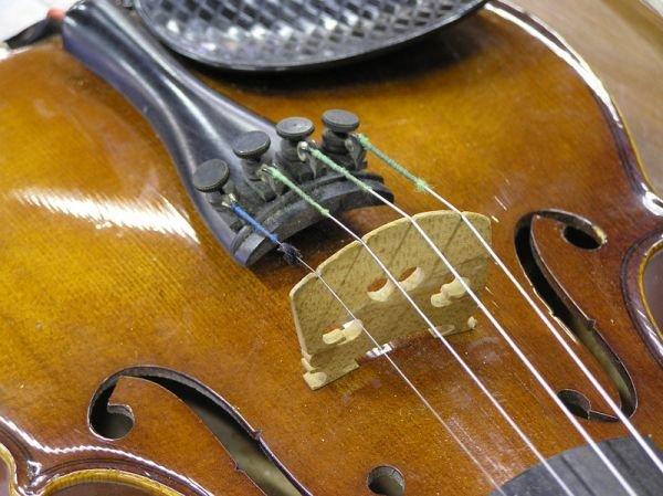 2447: Anton Becker Violin, Germany - 8