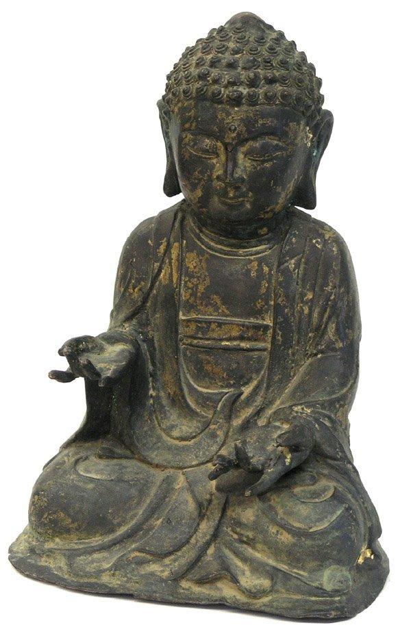 2568: Asian bronze Buddha figure