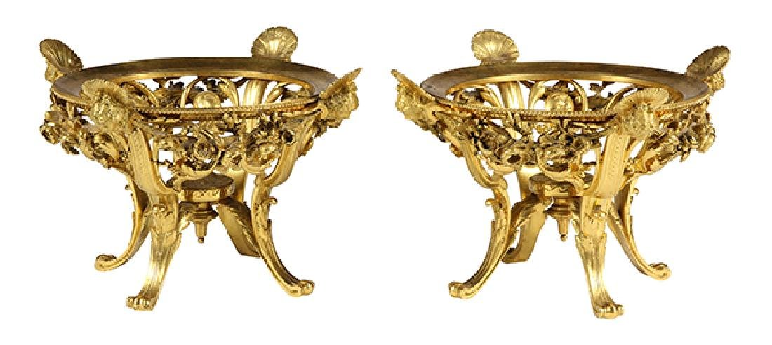 Pair of French Barbedienne gilt bronze center pieces, - 2
