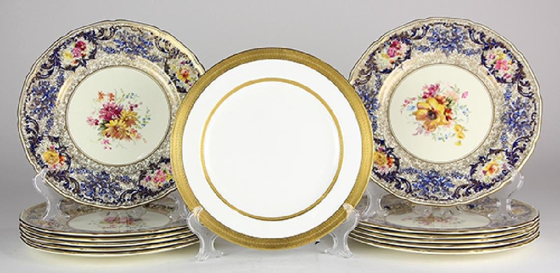 (lot of 13) Royal Doulton dinner plates, each having a