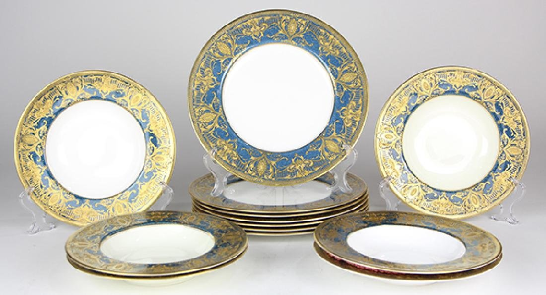 (lot of 13) Royal Worcester plates, retailed by