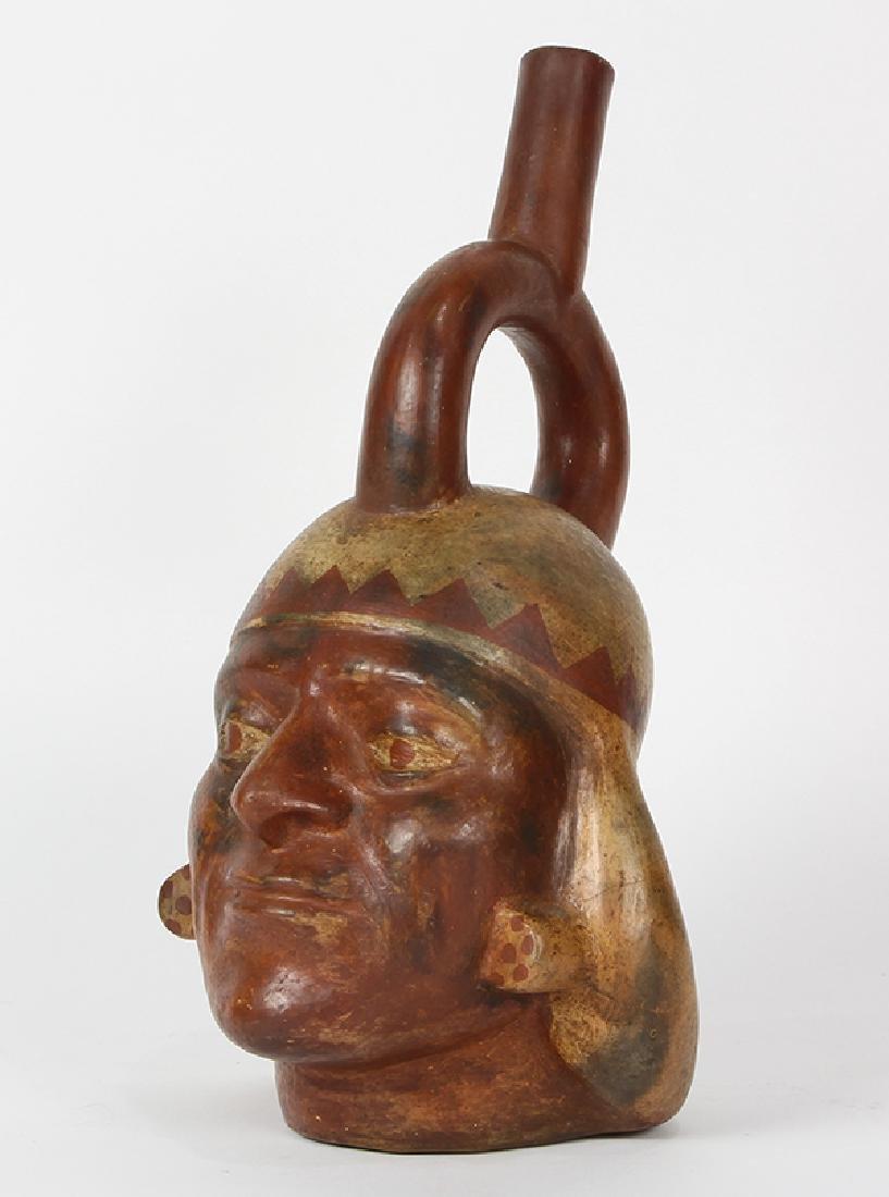 Pre-Columbian Northern Peru Moche III stirrup spout