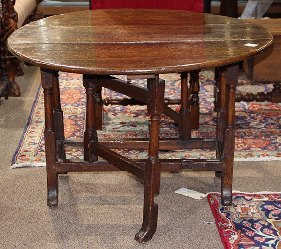 William and Mary oak drop leaf table
