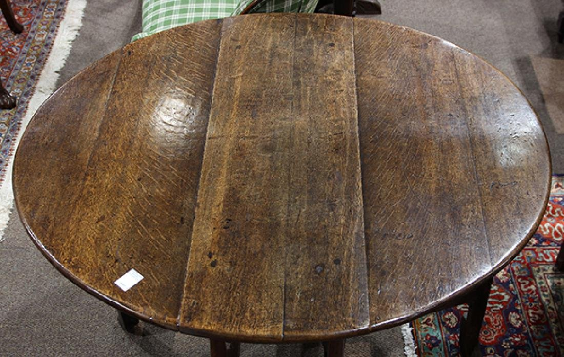 William and Mary oak drop leaf table - 3