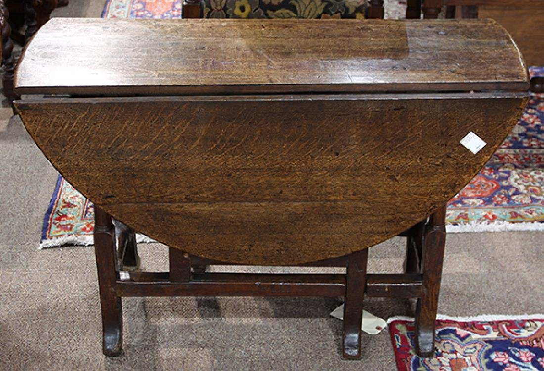 William and Mary oak drop leaf table - 5