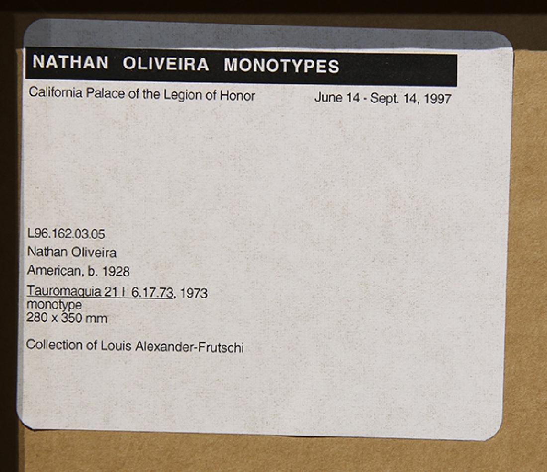 Monotype, Nathan Oliveira, Tauromaquia - 4