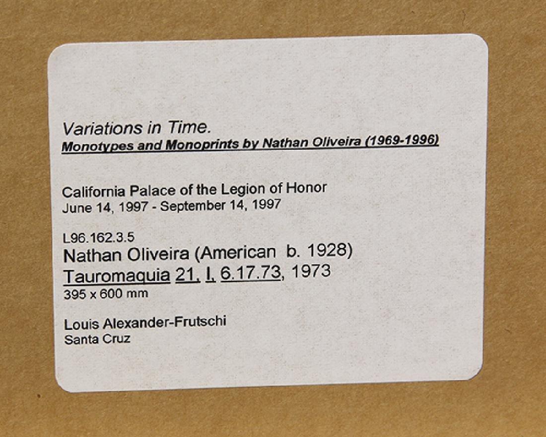 Monotype, Nathan Oliveira, Tauromaquia - 5