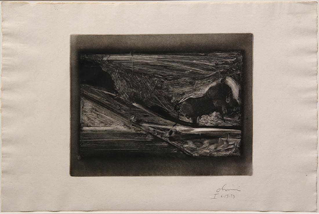 Monotype, Nathan Oliveira,Tauromaquia