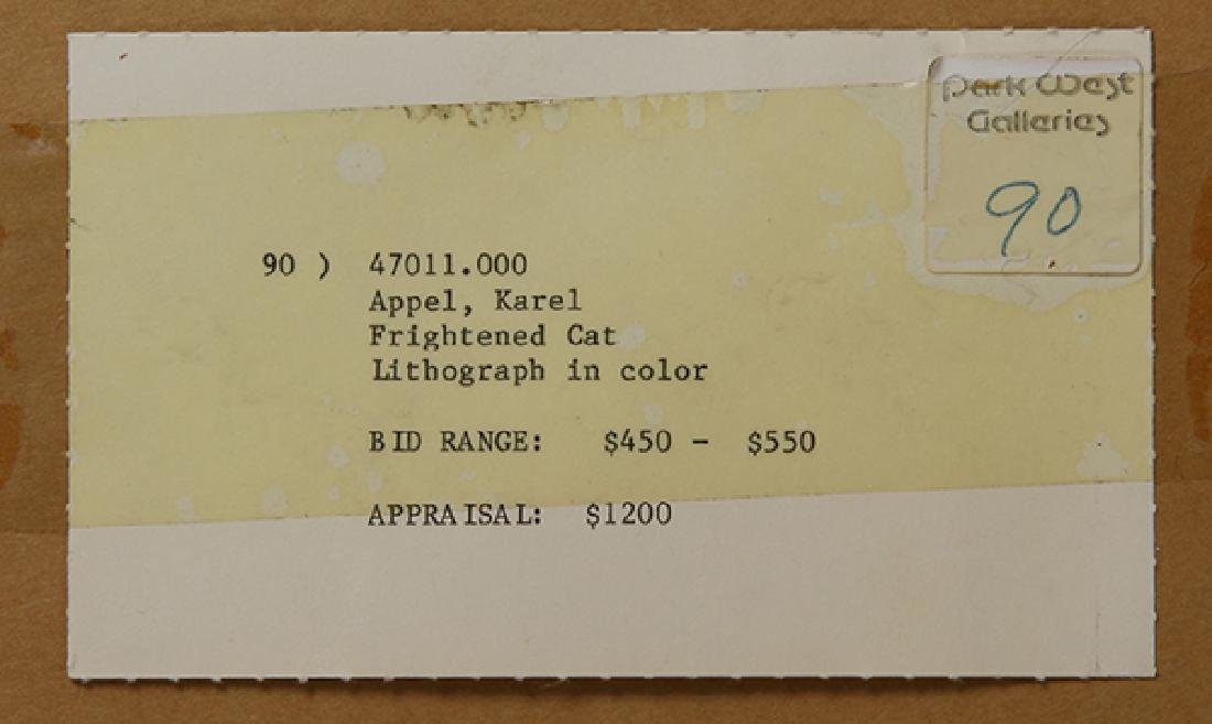 Print, Karel Appel, Frightened Cat - 5