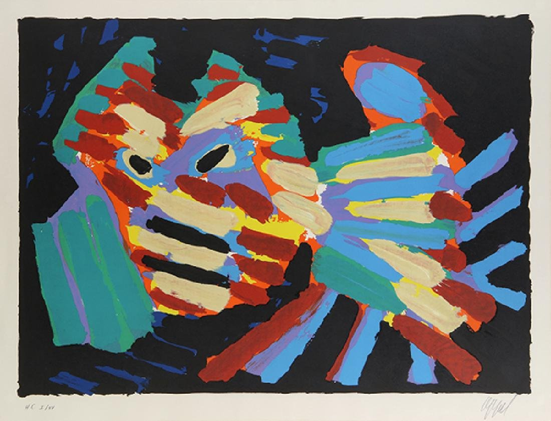 Print, Karel Appel, Fighting Cat
