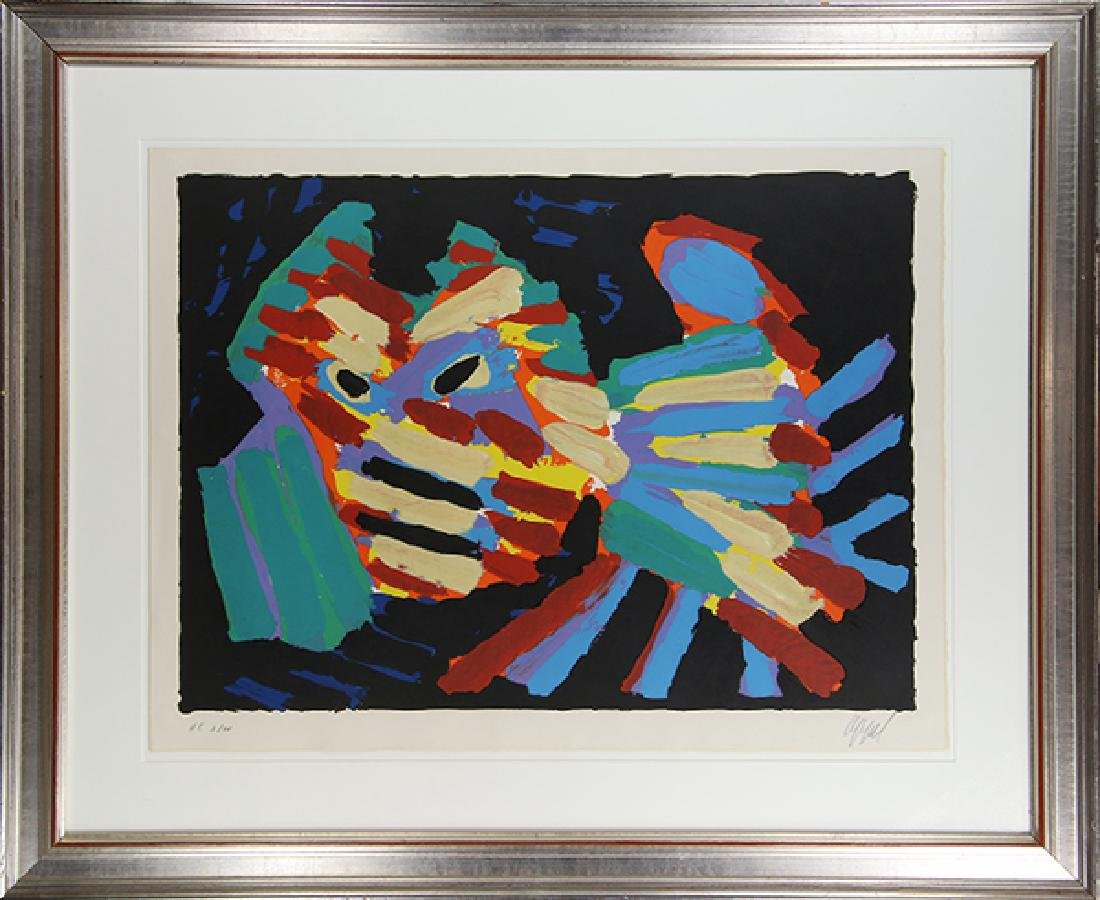 Print, Karel Appel, Fighting Cat - 2