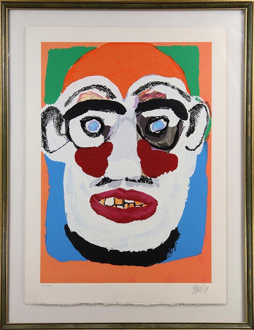 Print, Karel Appel, Face - 2