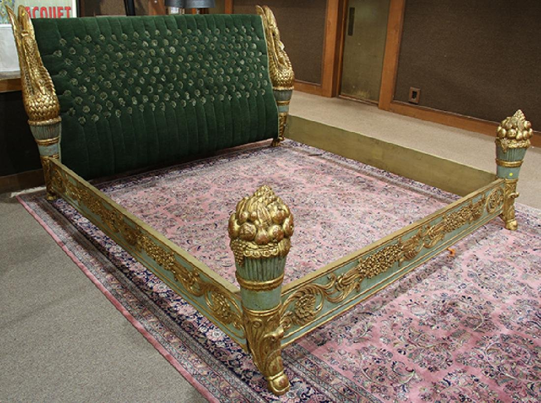 Continental giltwood carved bed