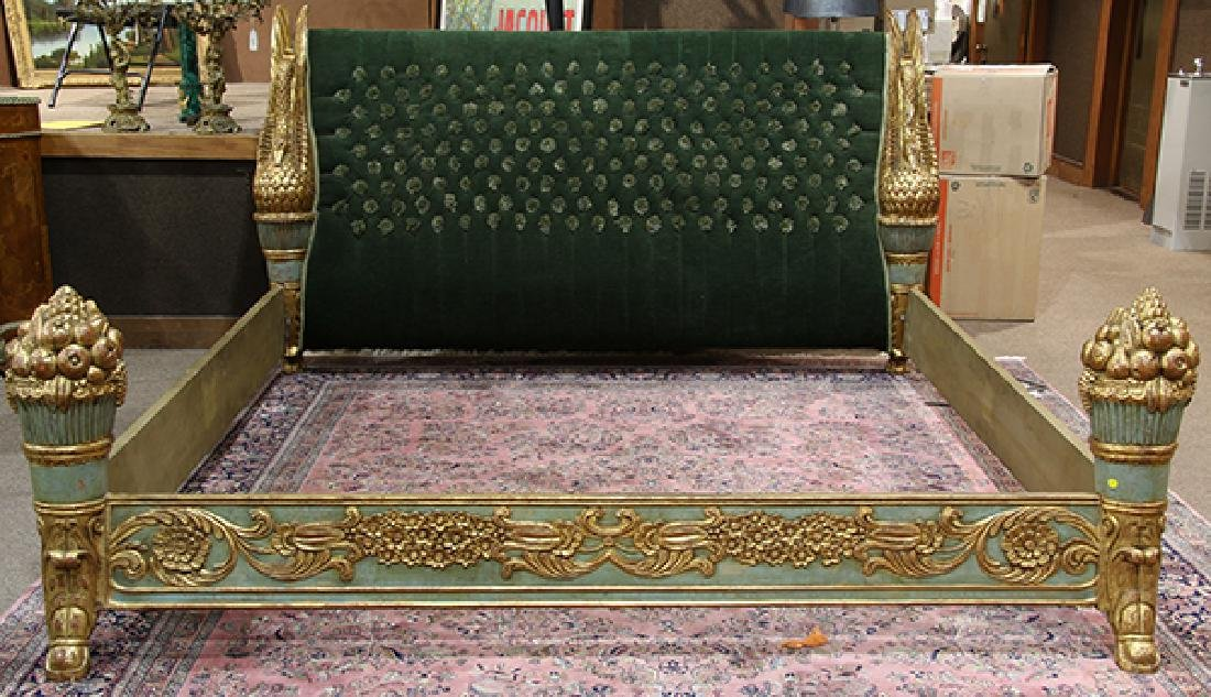 Continental giltwood carved bed - 2