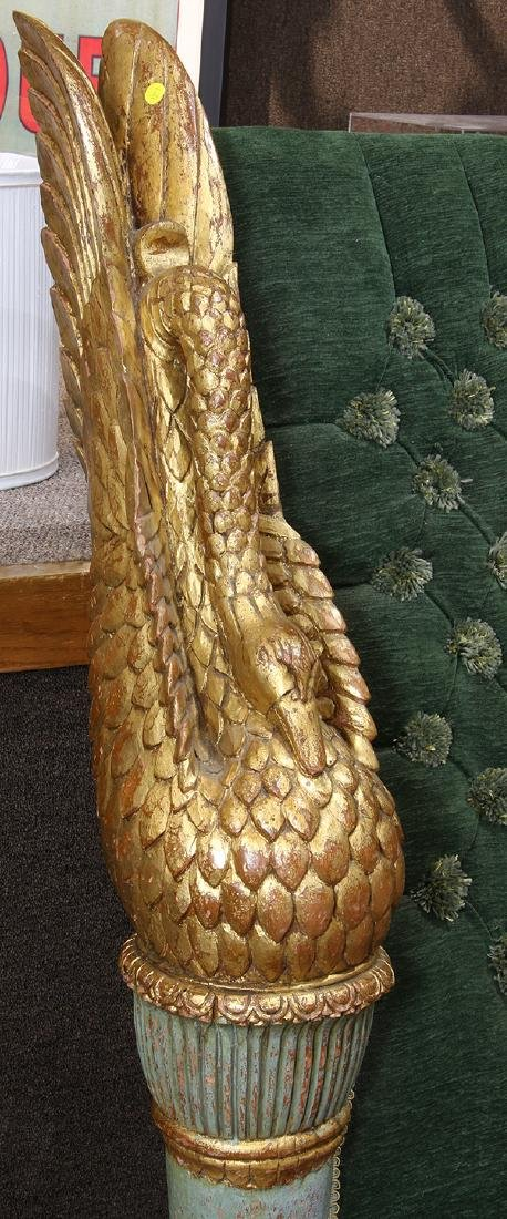 Continental giltwood carved bed - 3