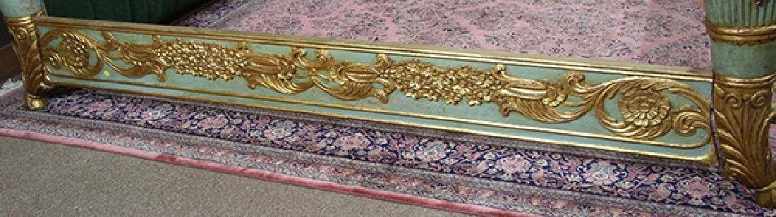 Continental giltwood carved bed - 4