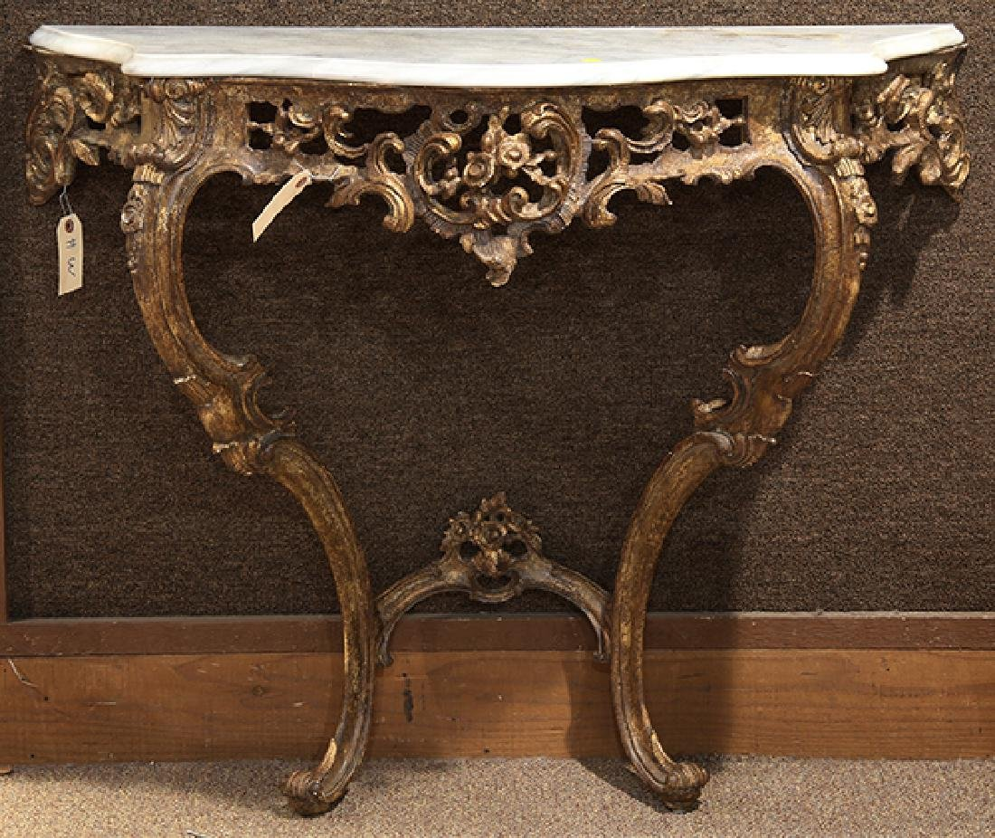 Italian Rococo style carved console table