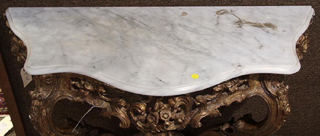 Italian Rococo style carved console table - 2