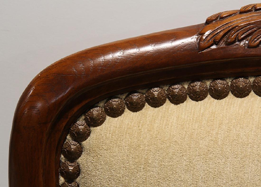 Pair of Art Nouveau style carved fauteuils - 4