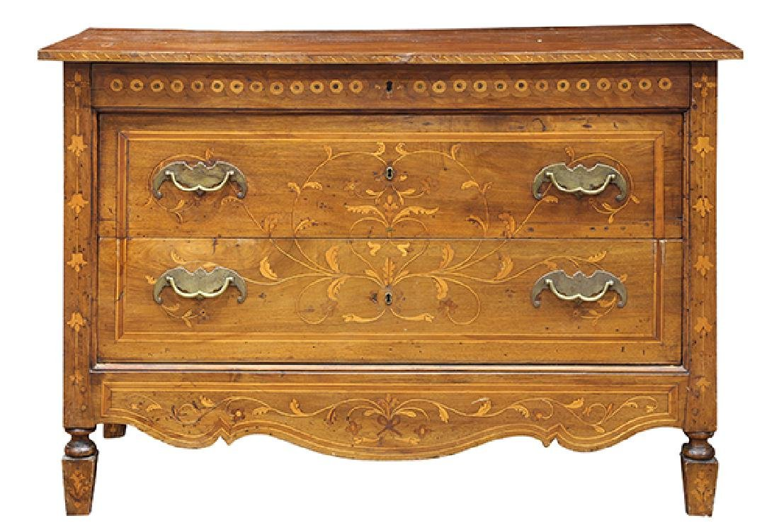 North Italian Neoclassical marquetry commode, late 18th