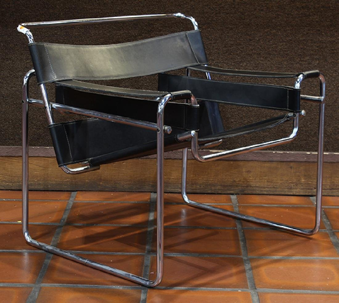 Pair Marcel Breuer style Wassily chairs circa 1980 - 3