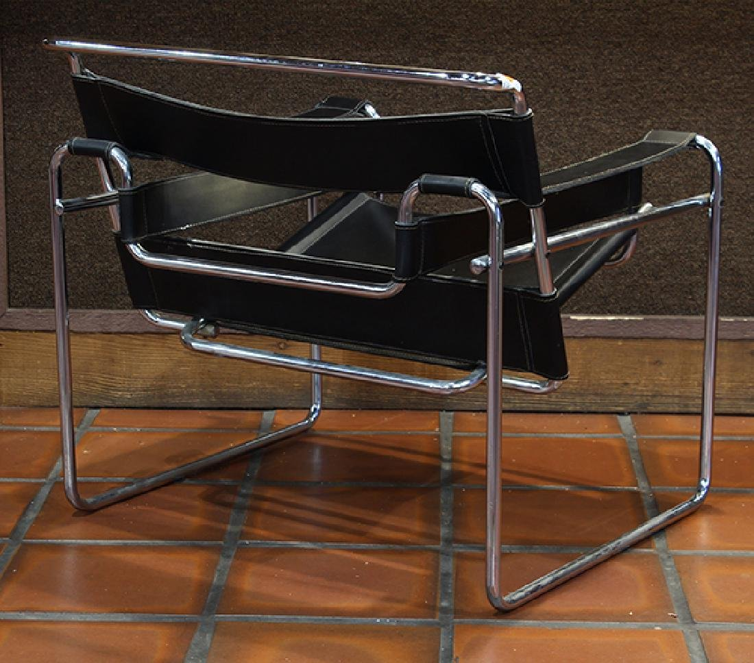 Pair Marcel Breuer style Wassily chairs circa 1980 - 4