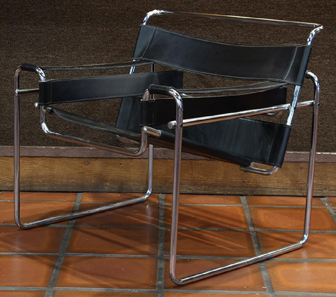 Pair Marcel Breuer style Wassily chairs circa 1980 - 6