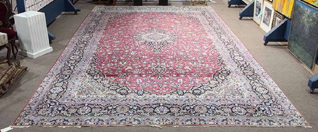 Semi antique Persian Meshed carpet